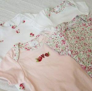Floral Onsie Set- 3-6 Months